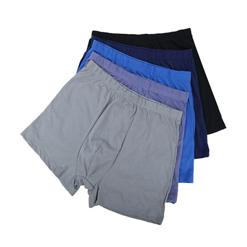 New Men Random Solid Color Boxer Briefs Cotton Shorts High-Waisted Loose Breathable Bottoms High Qua
