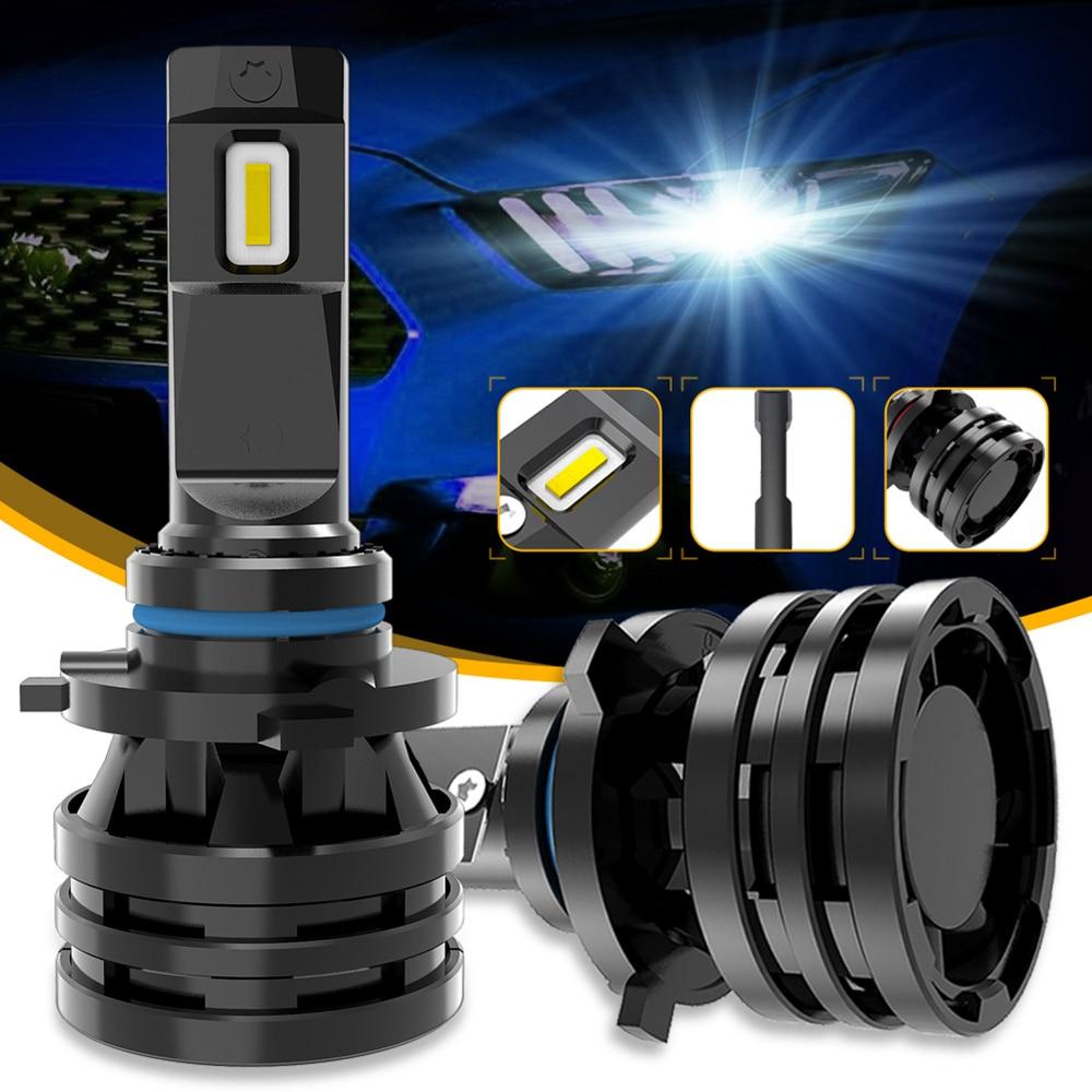 M2 luces del coche H7 16000LM H11 lámpara LED bombillas de faro delantero de coche H4 H1 H3 H8 H9 9005 9006 HB3 HB4 9012 H13 9007 Turbo bombillas LED 12V 24V