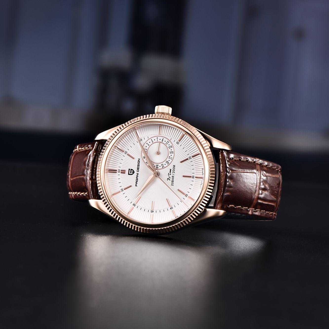 Pagani Design 2021 Top Brand Watch Men's Leather Quartz Watch Stainless Steel 200m Waterproof Clock Luxury Watch Reloj Hombre enlarge
