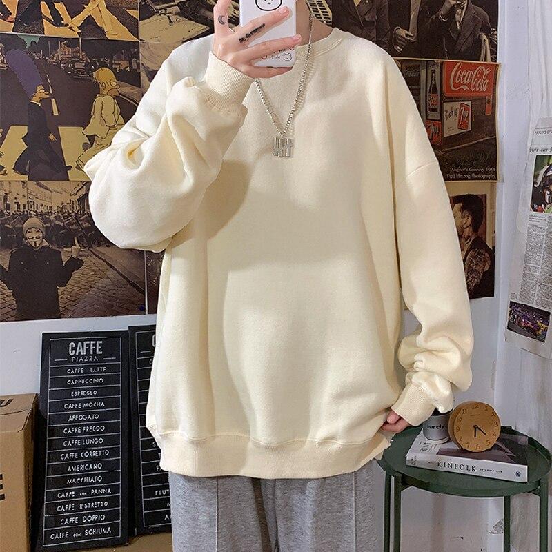 Женская толстовка с капюшоном, однотонная Толстовка свободного покроя из хлопка, теплая толстовка большого размера, осень 2021