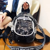 backpack womens small bag 2021 new trend sequins fashion foreign style single shoulder bag personalized backpack bolsa feminina