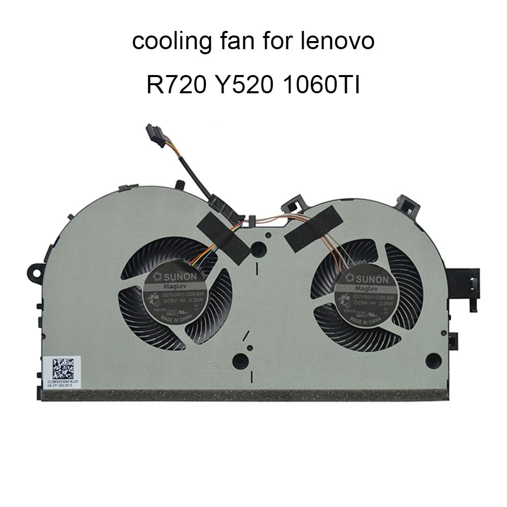 Computer Fans For Lenovo Legion R720 15IKBN Y520 15IKBA Y520-15IKBM CPU Cooling Fan Cooler 1060TI EG75100V1 C020 S9A New