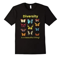 diversity is a beautiful thing butterfly t shirt cotton o neck short sleeve unisex t shirt new size s 3xl