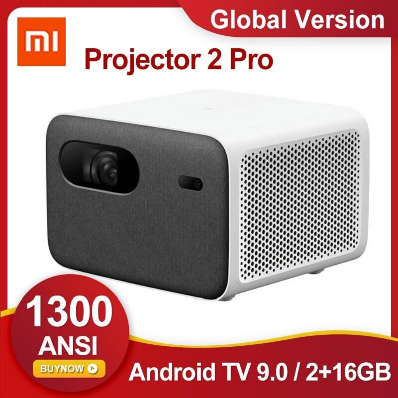 [Global Version] Xiaomi Mijia Projector 2 Pro 1080P HDR10 Laser TV 1300 ANSI Lumens 16GB eMMC Android TV 9.0 Smart Projector