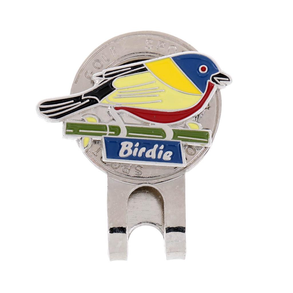Прочная Магнитная шляпа, маркер мяча для гольфа, зажим на кепку для гольфа, козырек, подарок, птица