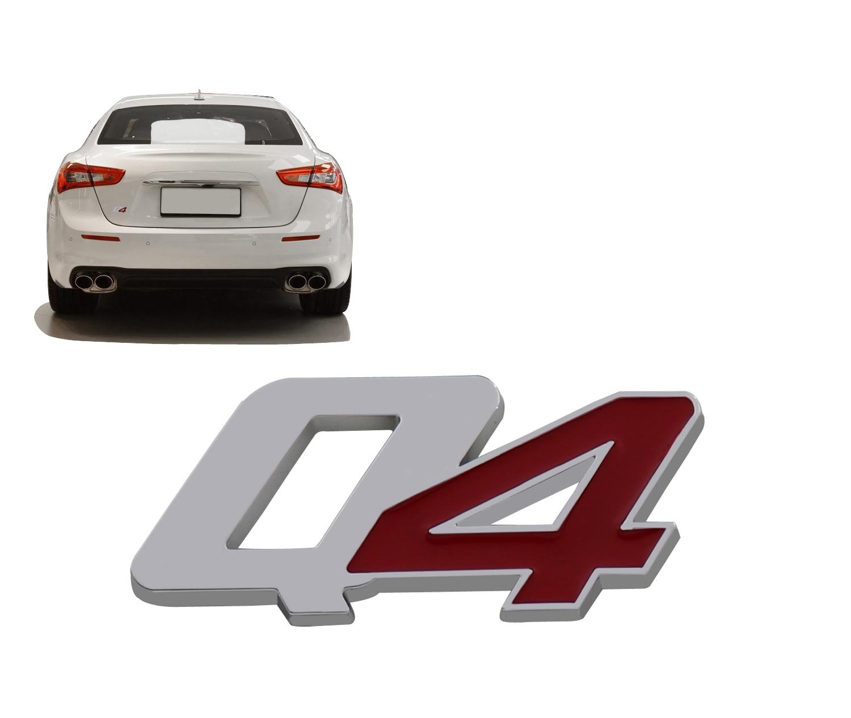 Cromo vermelho q4 para ghibli quattroporte tronco tampa emblema decalque emblema adesivo