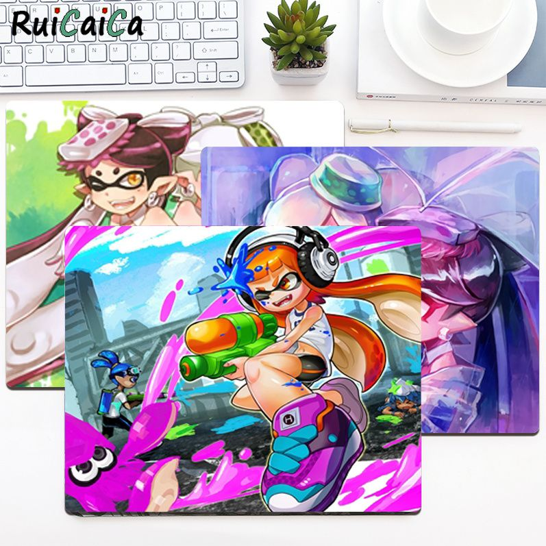 RuiCaiCa High Quality Splatoon Beautiful Anime Mouse Mat Smooth Writing Pad Desktops Mate gaming mouse pad maiya funny tie dye customized mousepads computer laptop anime mouse mat smooth writing pad desktops mate gaming mouse pad