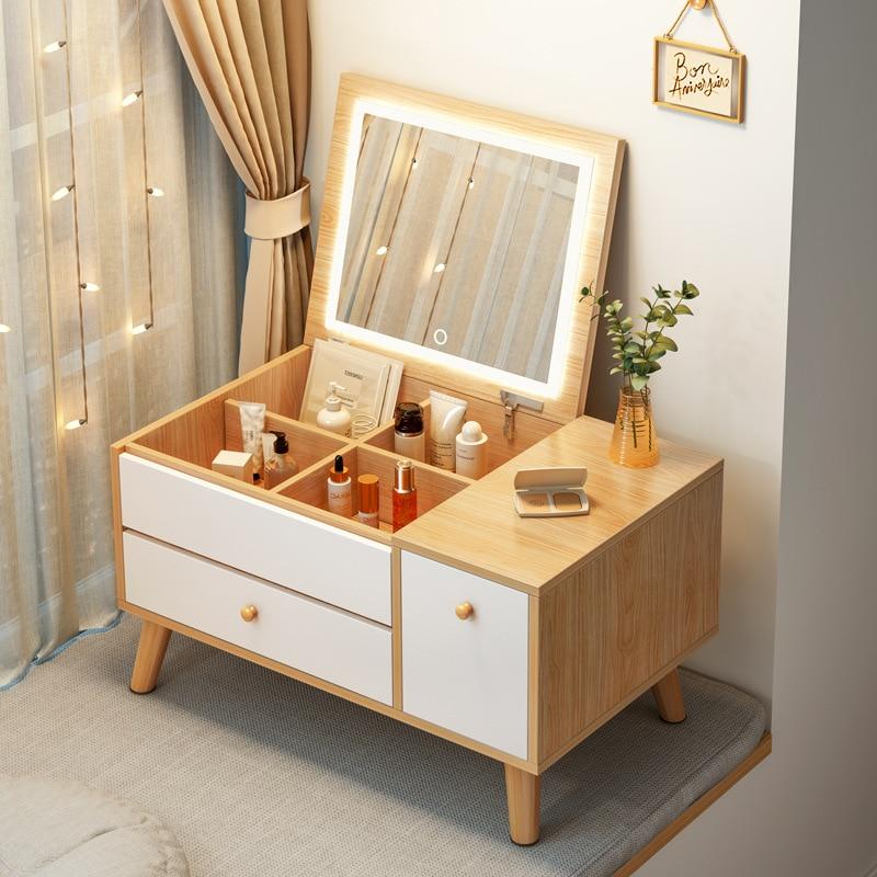 Скандинавский туалетный столик с эркерным окном для спальни, современный минималистичный Новый минималистичный сетчатый туалетный столик...