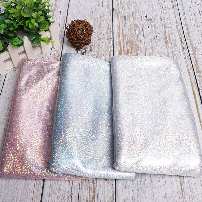 100x150cm glitter laser bronzed fabric soft for stage garments and Dance wear material