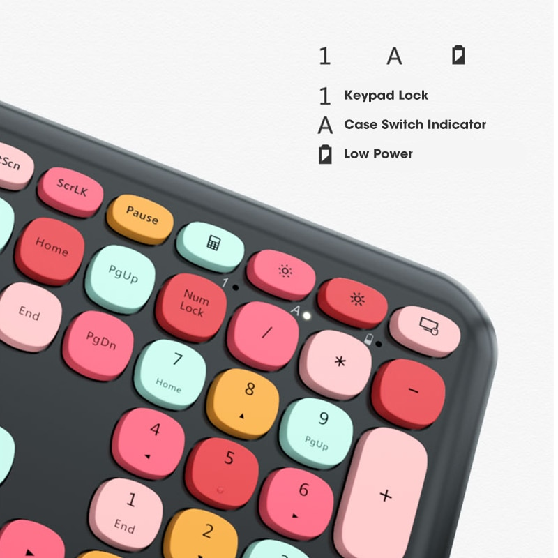 2.4G Wireless Keyboards,No Mechanical Keyboard Multi-Device,Ergonomic Pink Keypads Compatible with Laptop Computer Accessories enlarge