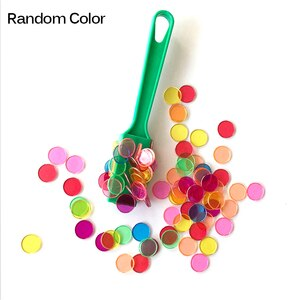 Magnetic Stick Wand Set With Transparent Color Counting Chips With Metal Loop Toys Baby Education Toy Montessori Learning Toy