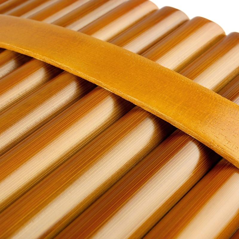 15 Pipes  Pan Flute G Key Folk Musical Instruments  Brown Colour Flute De Pan Woodwind Instrument Handmade Pan Pipes enlarge