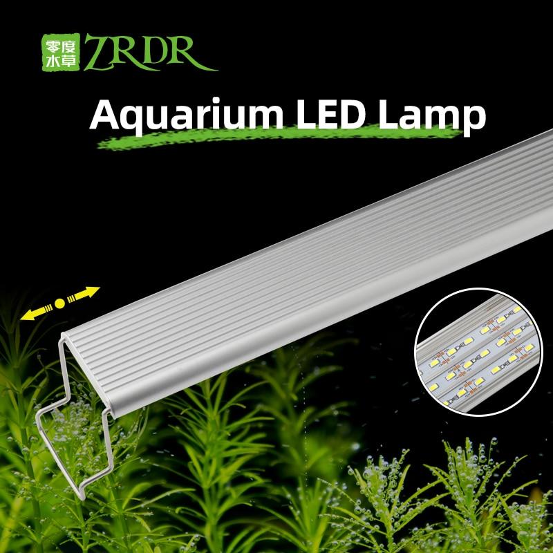 ZRDR Aquarium Planted LED Light A Series Mini Nano Simple Aquarium Aquatic Fish Tank Metal Stand Sunrise Sunset LID Light