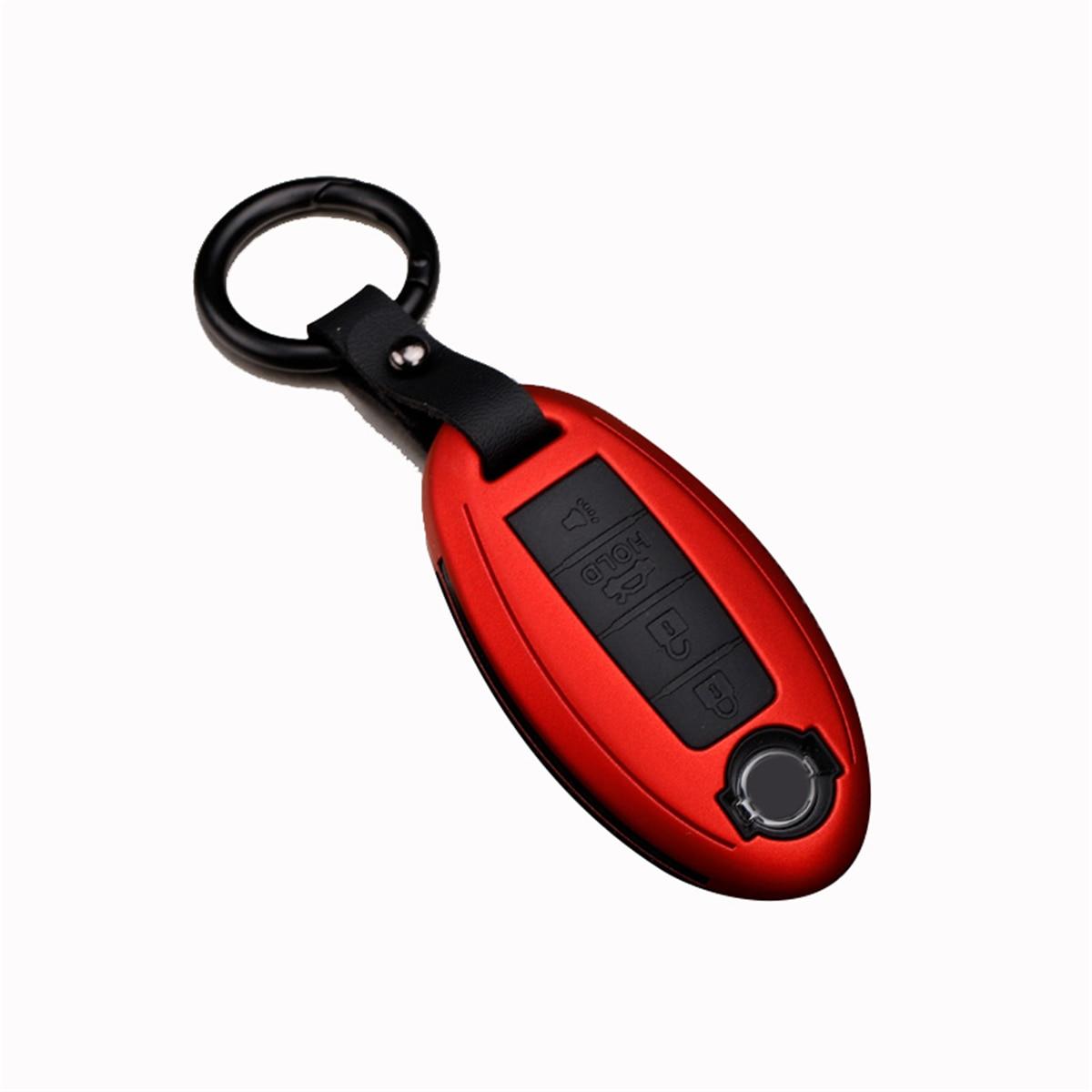 Llavero inteligente para coche de 4 botones con llave plegable con control remoto, estuche protector, llavero protector para NISSAN LIVINA SYLPHY SUNNY TEANA MURANO