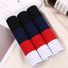 Gomas elásticas de nailon para el pelo para niña, cintas para el pelo de colores lisos, colores caramelo, negro y blanco, 66 unids/lote