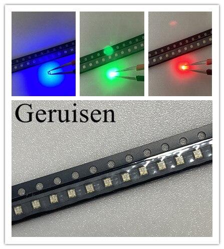 100 unids/lote BGR SMD 0603 ánodo común RGB Led 0606 diodo LED RGB 4 compartimentos tamaño 1,6*1,6*0,55mm colorido rojo/verde/azul 1615 LED