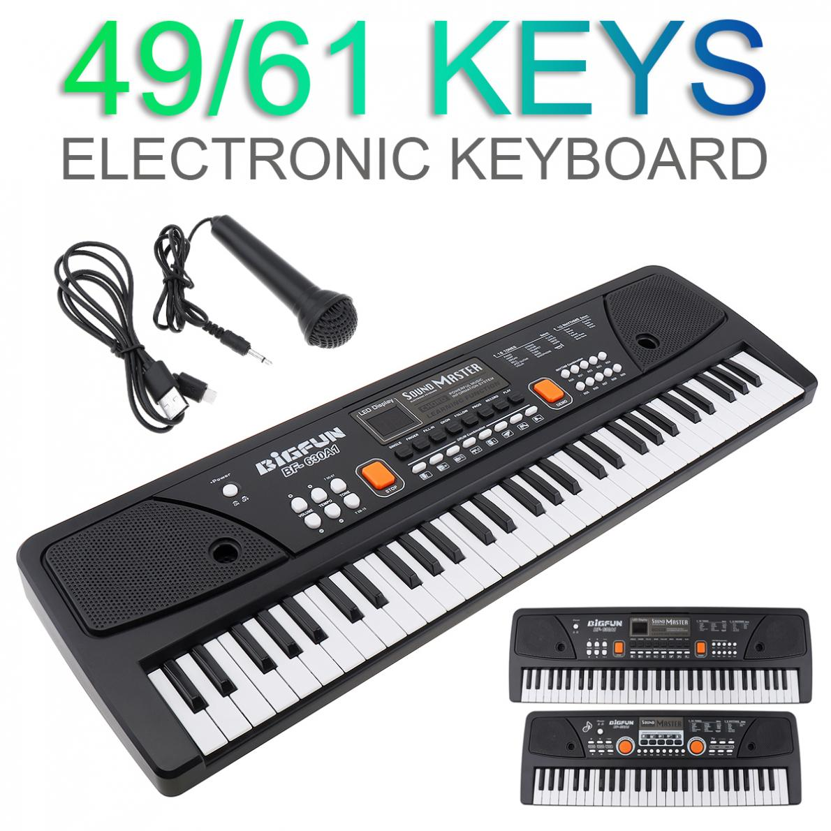 Electronic Organ 37/49/61 Keys Electronic Keyboard Piano Digital Music Key Board Microphone Children
