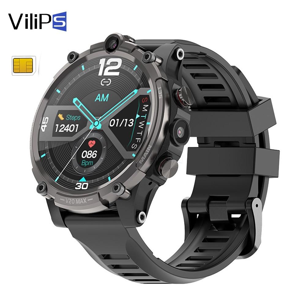 Vilips 4G أندرويد SmartWatch 930Mah بطارية 1.6 بوصة لتحديد المواقع Smartwatch أندرويد كاميرا لتحديد المواقع ساعة ذكية تعمل بالواي فاي