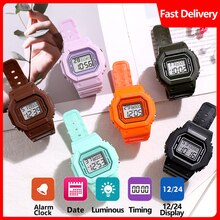 Digital Watch Men Women Kids Electronic LED Wrist Watch 24 hours Sport Watches Army Military Waterpr