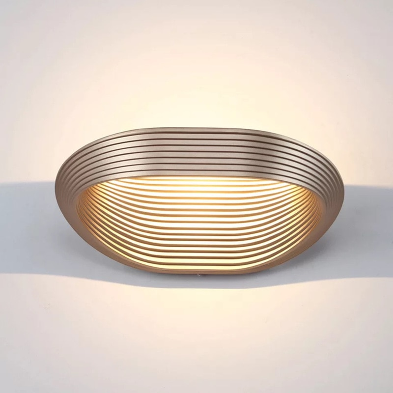 Modern Novidade Corredor LEVOU Lâmpada de Parede Branco/Preto/Ouro Corpo sala Arandela Cabeceira Luzes de Parede de Superfície montar 220V