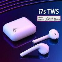Беспроводные наушники i7s TWS, Bluetooth наушники, Air наушники, Спортивная гарнитура громкой связи с зарядным устройством для Xiaomi, iPhone, Android