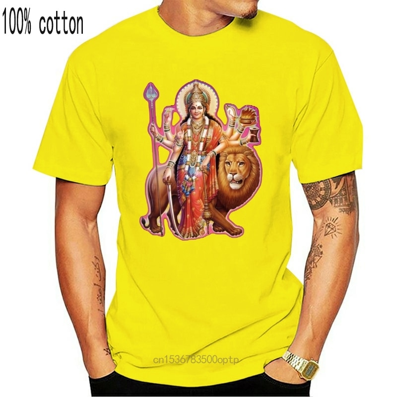 DURGA футболка Kali Shiva Krishna Hinduism Yogaer медитация богиня рукав футболка мужская футболка модный стиль|Футболки| | АлиЭкспресс