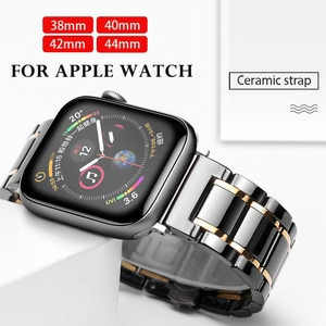 Ceramic Watchband For Apple Watch band Series 5 4 42mm 38mm 44mm 40mm Bracelet for iwatch 5  Ceramic Strap Watch band