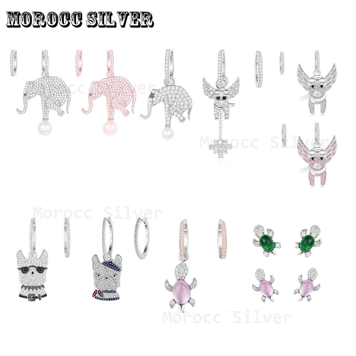 s925-серебро-1-1-имитация-жемчуг-С-Рисунком-Слона-и-прыгающей-свинья-серьги-с-дизайном-«Черепаха»-модные-роскошные-женские-серьги-Монако-юве