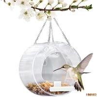 bird feeder acrylic bird feeder clear flower stakes beautiful pink coneflower bird seed tray for yard garden decor