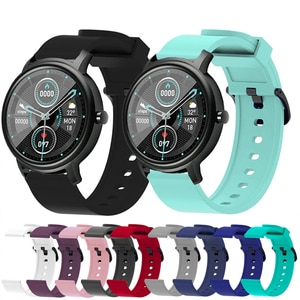20mm Watchband Strap For Xiaomi Mibro Air Smartwatch Silicone Replacement Wristband For Xiaomi Mi bro Color Bracelet Ремешок