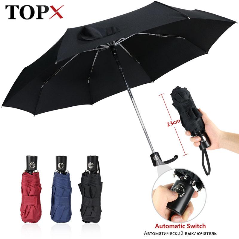 Mini Paraguas automático lluvia mujeres 5 paraguas plegable moda lluvia mujeres ultraligero UV Parasol viaje al aire libre niños hombres paraguas
