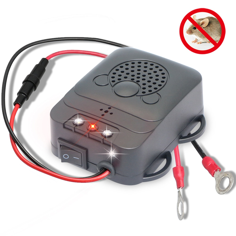 Electronic Ultrasonic Vehicle Animal Repeller Mouse Expeller Low Power Car Engine Compartment Cockro
