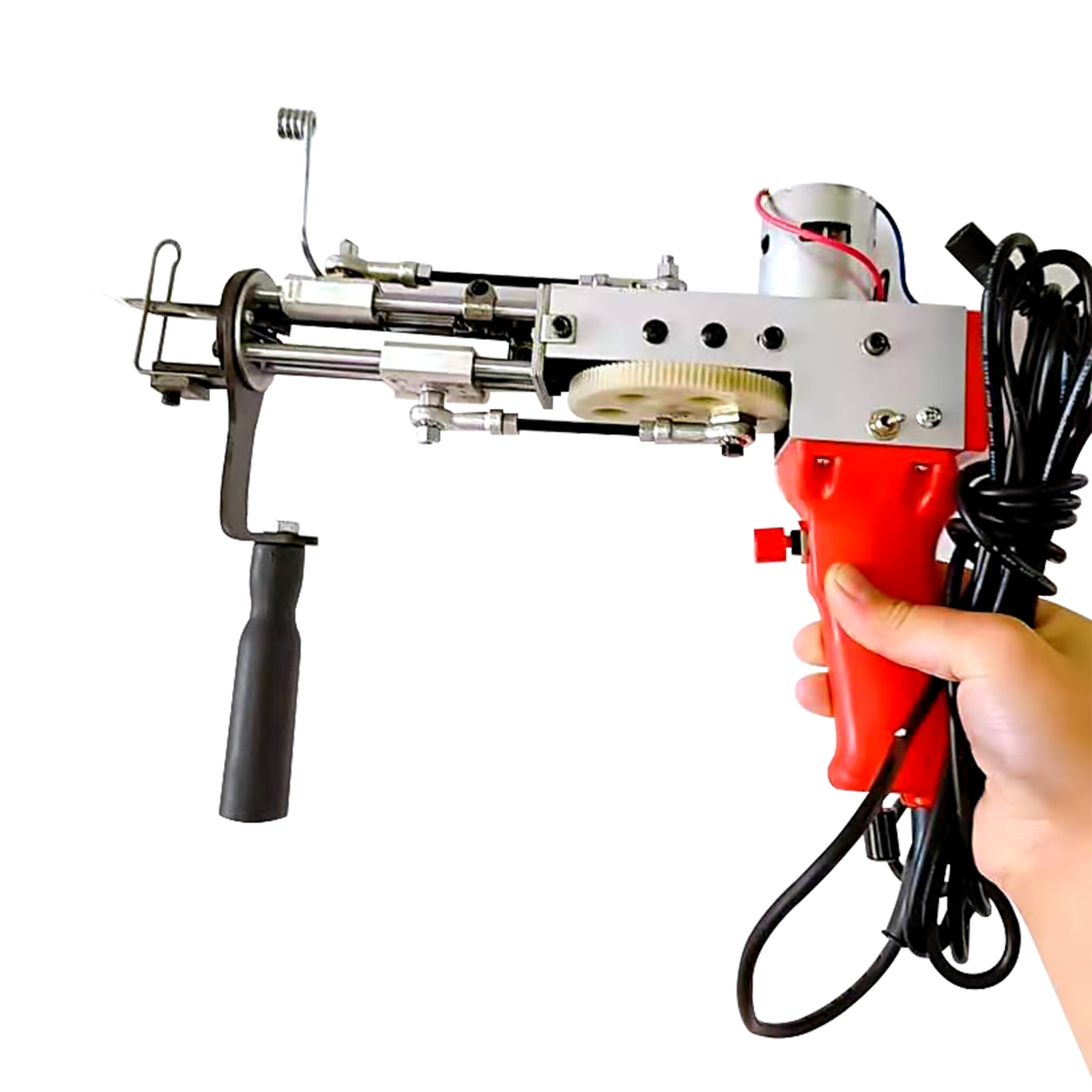 Red Electric Carpet Tufting Gun Carpet Loom Flocking Machine Industrial Embroidery Machine, Cut Pile Knitting Machine 110V enlarge