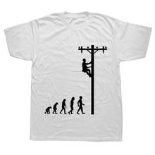 Évolution de Lineman t-shirt humoristique électricien cadeau
