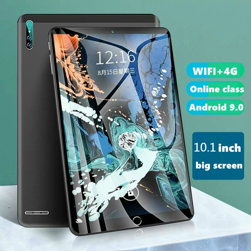 2021 Latest Tablet 10.1 Inch 6GB+128GB Big Memory 4G Calling Tablet Wifi Full Screen Android with 10