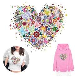 Borboleta thermo adesivos para roupas flor remendo ferro em transferência de vinil remendos para roupas transferência adesivos de vinil listrado