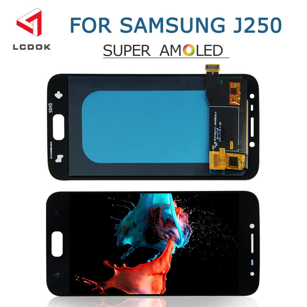 Super AMOLED Pantalla LCD para Samsung Galaxy J2 2018 Pro J250 J250F J250H Pantalla LCD de montaje de digitalizador con Pantalla táctil Panel Pantalla