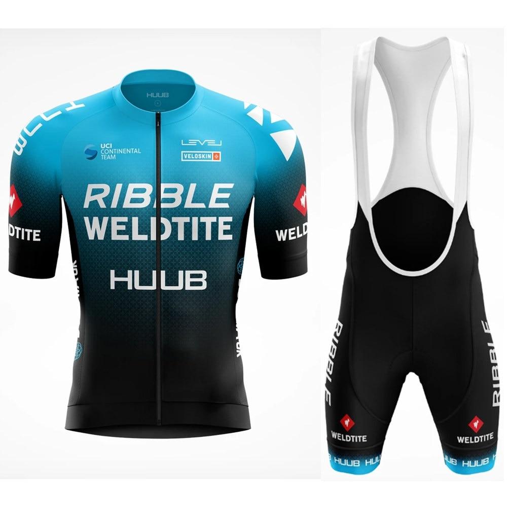 2020 new HUUB mtb cycling jersey set pro team mens summer set maillot ciclismo bicycle clothing bib 9d gel shorts ropa de hombre