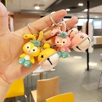 disney cute rabbit doll keychain pendant car chain ring a pair of simple couple kawaii bag ornaments girl gift