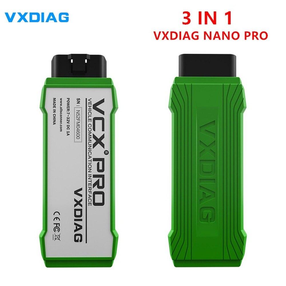 Vxdiag vcx nano pro 3 em 1 programa multi-langauage novas chaves atualizar em linha vxdiag para volvo melhor do que para dados volvo vida