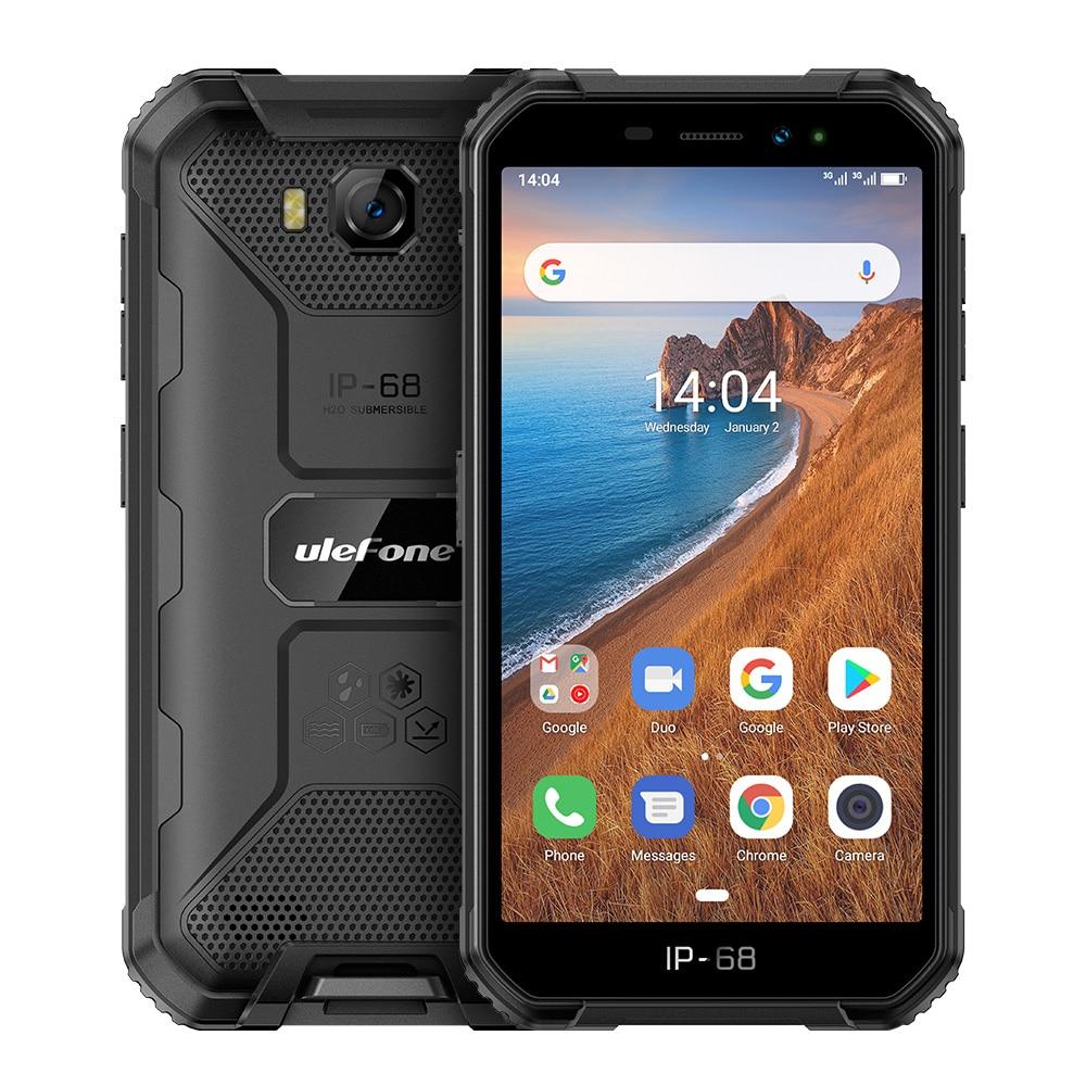 Ulefone Armor X6 водонепроницаемый телефон, IP68/IP69K, MT6580, Android 9,0, распознавание лица, разблокировка, 4000 мач, 8 мп, 2 гб, 16 гб пзу, 3G, глобальная версия
