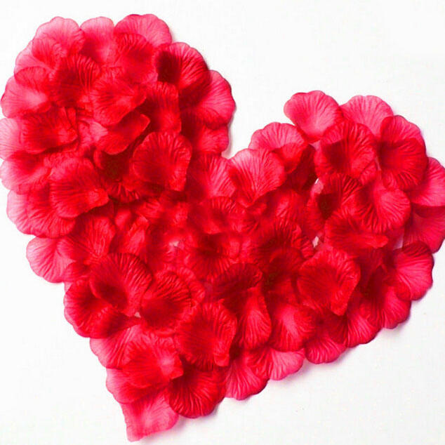 100 unids/pack 4,5*4,5 cm rojo Artificial flor Boda fiesta DecorationAccessories pétalos De...