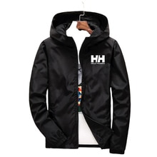 Men's Coat Jacket Spring Summer New Brand Logo Printing Street Windbreaker Hoodie Zipper Thin Jacket