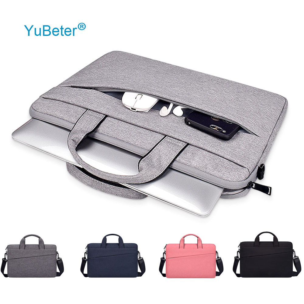 YuBeter Laptop Bag for Macbook Air Pro 13.3 14.1 15.4 15 6 Inch Portable Computer Shoulder Briefcase Bag for Xiaomi Asus Huawei
