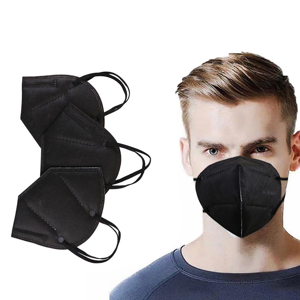1 шт. 3-слойная маска, черная маска для рта, для рта, носа, мягкая и дышащая маска для лица, маска-маска для рта, маска-маска для лица, косплей на ...