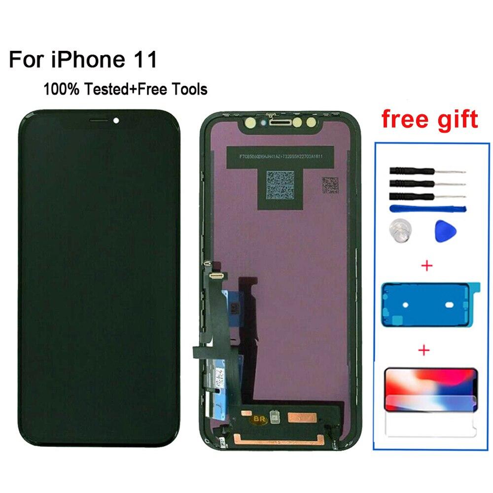 OLED маленький дигитайзер для iPhone 11, ЖК-дисплей с сенсорным экраном и дигитайзером в сборе для iPhone11, ЖК-дисплей с 3D сенсорным экраном