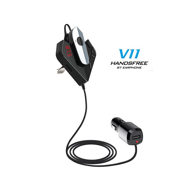Автомобильный MP3 плеер Bluetooth V4.1 FM модулятор аудио плеер беспроводная гарнитура Handfree модулятор музыкальный плеер USB зарядное устройство