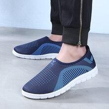 SHANTA erkekler rahat ayakkabılar örgü nefes Sneakers 2020 yeni moda ışık nefes konfor Hombre Zapatos Casuales erkek ayakkabısı