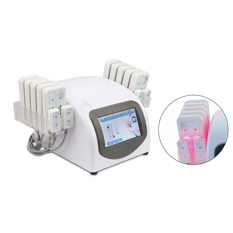 عالية الجودة 14 قطعة الثنائيات 650nm منصات الليزر يبو السيلوليت إزالة الجسم الدهون تشكيل آلة شفط الدهون