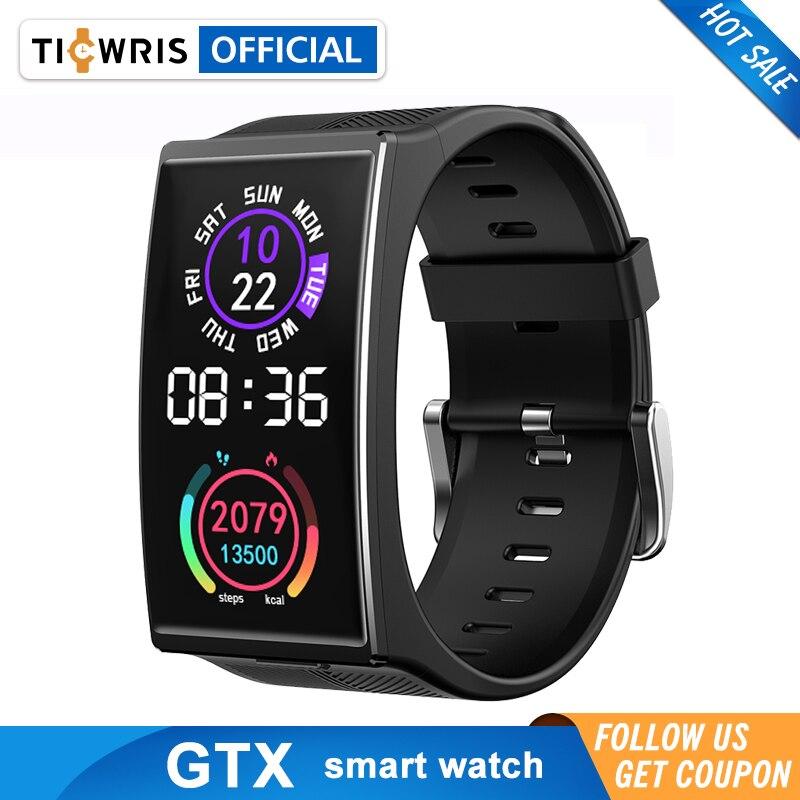 TICWRIS GTX Smartwatch 1.9 بوصة IP68 مقاوم للماء شاشة ملونة بلوتوث 5.0 ضغط الدم النوم مراقب 300mAh ساعة ذكية الرجال